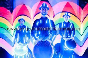 Glow LED Light Acts - Acrobats - Drummers - Stilt Walkers - Dancers