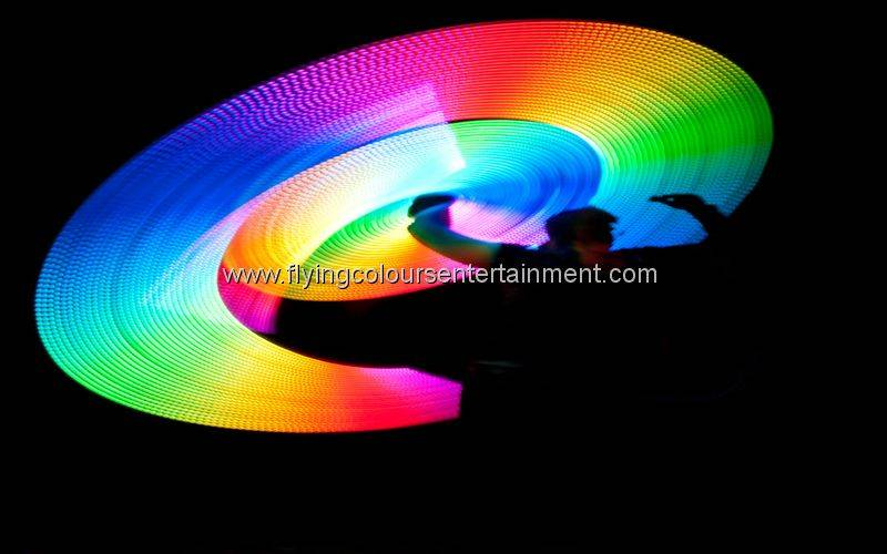 Glow LED Pattern Spinning Performer